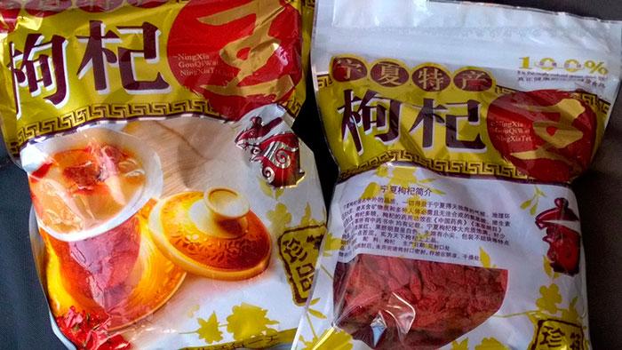 ягоды годжи: пакеты с сухими ягодами