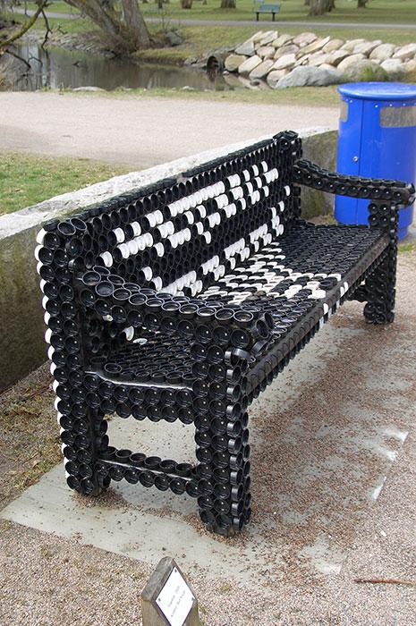 дизайнерский вариант скамейки