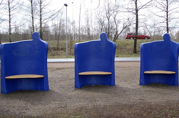 стационарные скамейки, дизайнерские скамейки