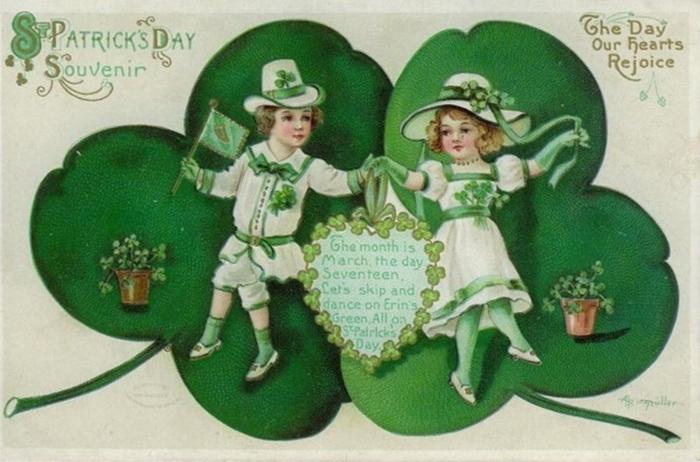 день святого Патрика, лист клевера - символ Ирландии, 17 марта, святитель Патрик, праздник святого Патрика